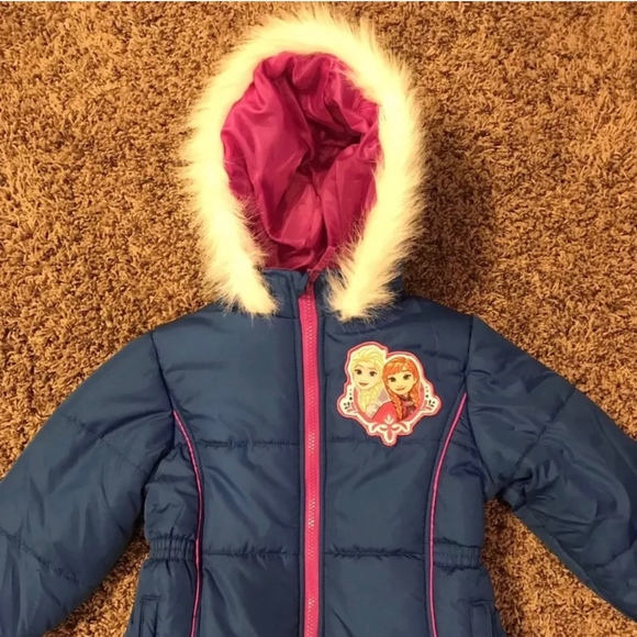 b37036112930 Disney Jackets & Coats | Frozen Anna Elsa Puffer Girl Blue Coat Sz 5 ...